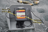 Humminbird 788 Shows Panfish In Winter
