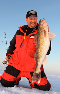 link to Ice Fishing Article Early Ice Walleye
