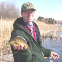 Shore fishing for Bluegills