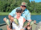Crappies, Mike and Marsha Maledy 8-14-08