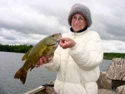 Smallmouth Bass Valora Lundberg 6-28-08