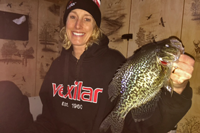 image of Sara with big Crappie