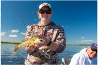 image of annalee jones with walleye