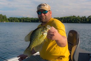 image of Chrsi Andresen with big crappie