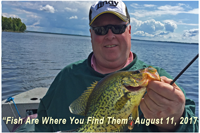 image of angfler with bigf Crappie