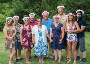 image of the sundin clan at wedding
