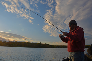 image of Chris Andresen catching panfish
