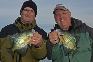 image of kevin scott and al heimer with big crappies