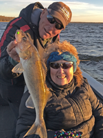 image of virginia sundin with nice walleye