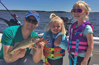 image of father daughter walleye