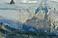 image of ice at trtails end landing