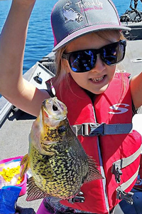 image of bailey with big crappie