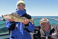 image of al and bev standly on leech lake