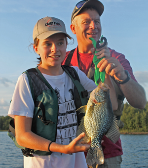 image of crappie caught at Camp Fish
