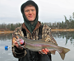 image of Eric Steere with nice Rainbow Trout