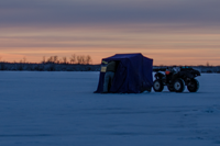 image of ATV on ice