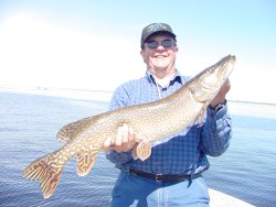 Bruce Champion with a nice Minnesota Northern Pike