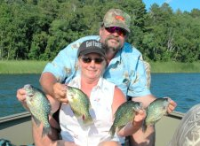 Crappies Mike & Marsha Maledy 8-14-08