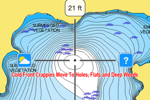 image of crappie location on map