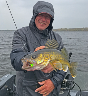 image of jeff sundin with nice walleye