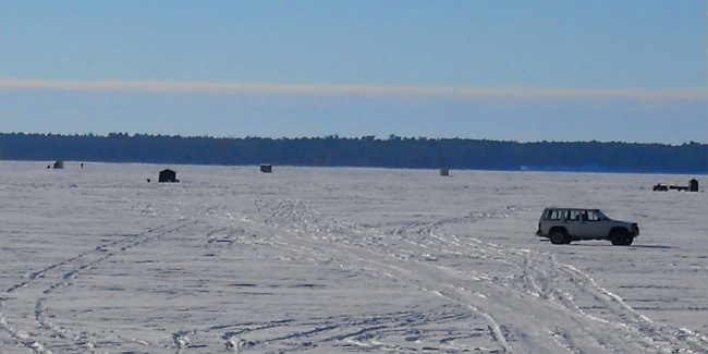 Ice fishing report mn fish lake winnie leech cass for Lake winnie fishing report