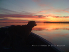 Rainy Lake Sunrise November 2010 Vern Valliant