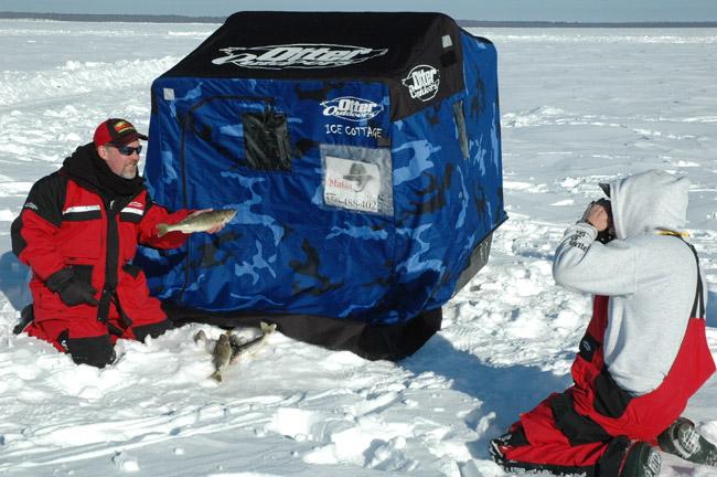 Leech lake ice fishing report by leech lake guide service for Lake winnie fishing report