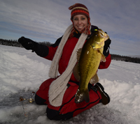 Melinda Hays Ice Fishing Largemouth