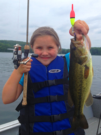 Largemouth Bass Caught By Haley on Gull Lake