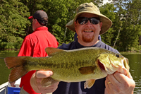 Largemouth Bass caught during the fisharoo