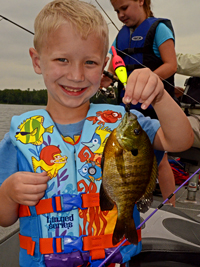 Bluegill caught by Grant on Gull Lake