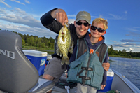 Crappie caught by Nils Snyder on Little Cutfoot Sioux Lake