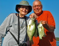 Crappies cauight on Little Cutfoot Sioux by Mike and Atcha Nolan
