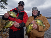 Crappies caught by Chad Haatvedt and Matt