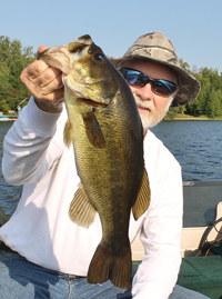 Greg Clusiau With Largemouth Bass