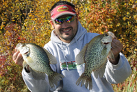 Blake Liend shows Fall Crappies