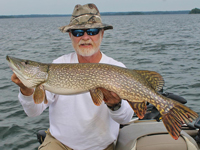 Northern Pike caught on Rainy Lake by Greg Clusiau