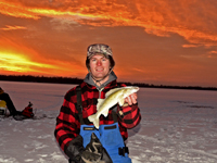 Image of Jesse Aultman with Walleye