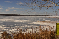 Image of ice conditions at Bass Lake