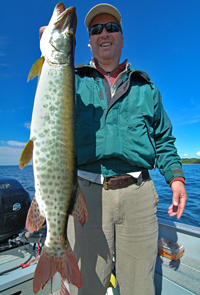 Musky caught by Bob Biegler on Lake Winnie