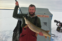 Northern Pike caught on Lake Winnie by Ben Alrick