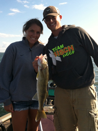 Walleye Caught on Leech Lake by Stephanie Wojton