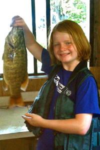 Smallmouth Bass caught by Morgan Reese