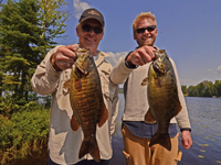 Smallmouth Bass caught by John Hauschild and Curt Black