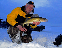 Ice Fishing Lake Winnie Walleye