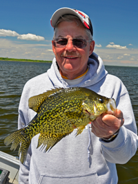 image of Keith Eberhardt with big Crappie