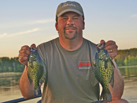 image of Brian Castellano with nice Cutfoot Sioux Crappies