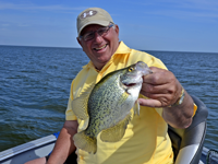 image of Arne Danielson holding Red Lake Crappie