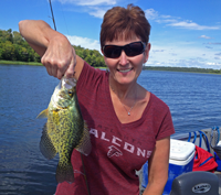 image of Tammi Norton with Cutfoot Sioux Crappie