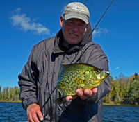 image of Jeff Sundin holding Crappie caught on a Tungsten Toad